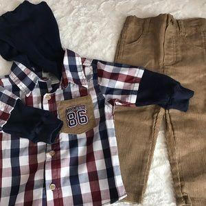 Other - New baby boy corduroy pants and hoodie set.